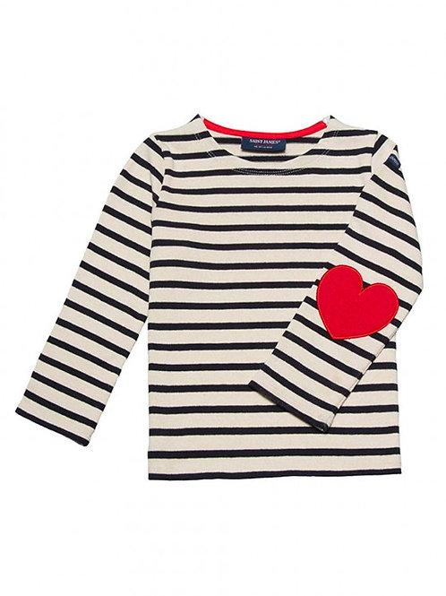 """Saint James - Children's """"I love Stripes"""" Cotton Jersey Sailor Top"""