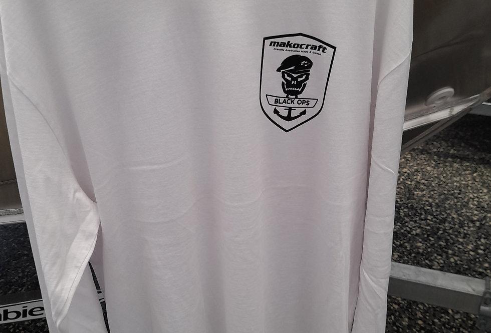 Makocraft Black Ops Long Sleeve Shirt - White