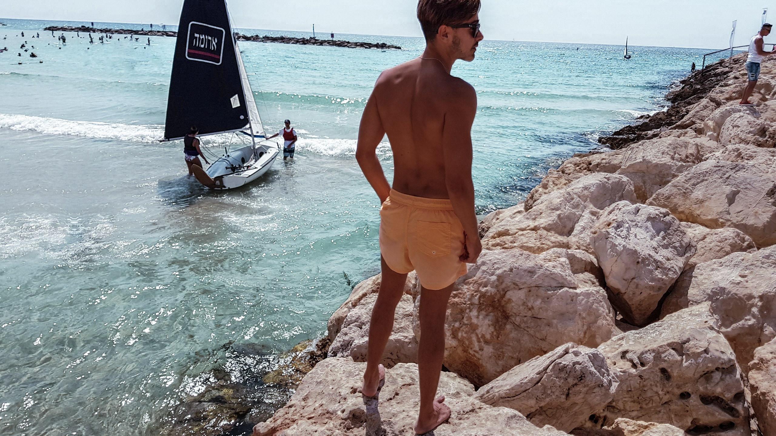 gordon beach tel aviv, israel