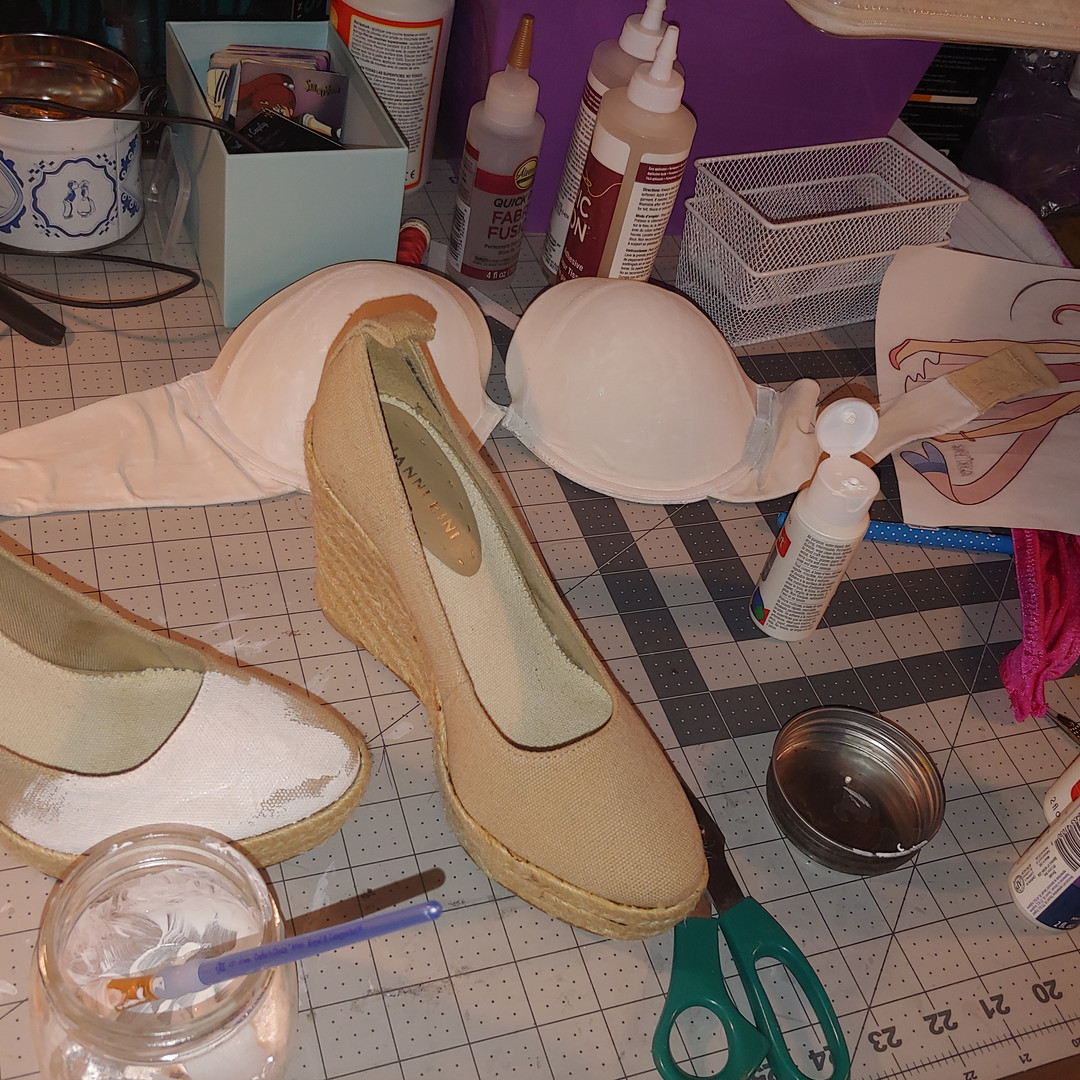 Painting the shoes