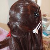 Braiding the wig
