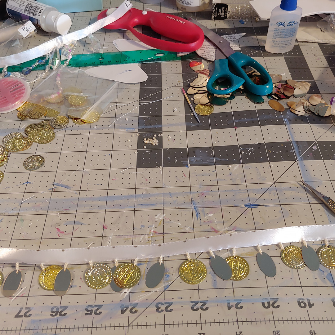 Making my own coin and sequin trim