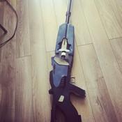 Rifle is 4 feet long.