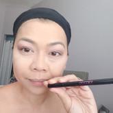 Liquid eyeliner BEFORE mascara.
