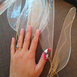 Cellophane and wire = puncture wounds!