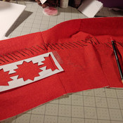 Painting on designs with templates by Ambrose Cosplay.