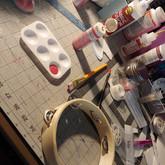 Painting the tambourine