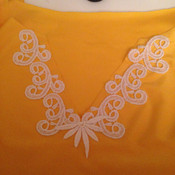 The lace is all hand stitched.