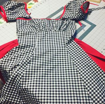 Dress in progress