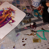 Doing a bit of jewel crafting.