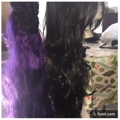 I purchased 2 wigs on Amazon to sew together. Unfortunately, the purple one had lower quality fibers which turned out to be a problem later when it tangled badly.
