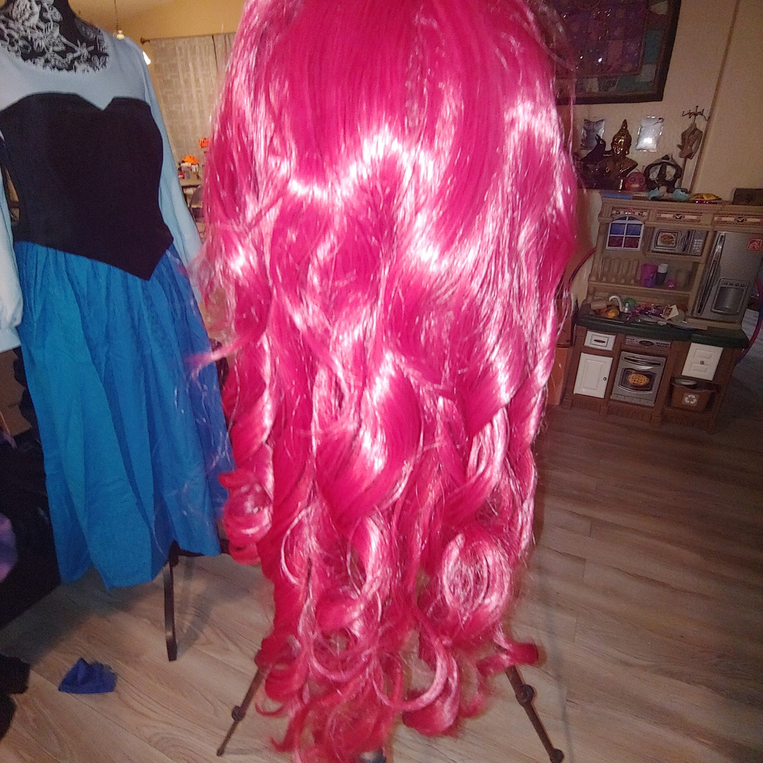 Re-styling the wig
