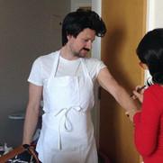 Applying Bob's arm hair