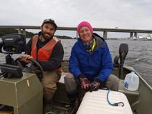 Matt and Steve before a night of sampling an estuary