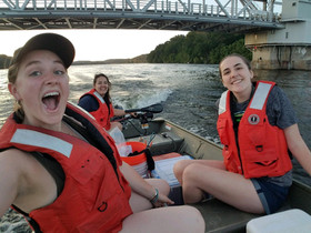 Heading out with our all-female crew!