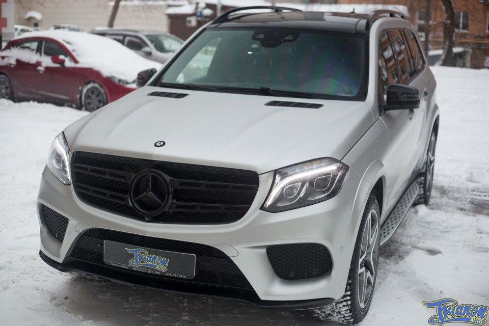 Mercedes GLS 500 silver matte