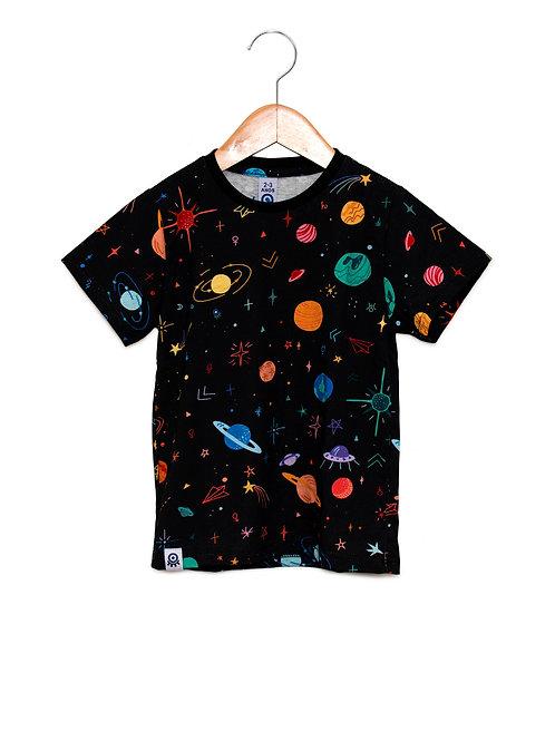 Camiseta Estampa LoK Espaço Color Frente