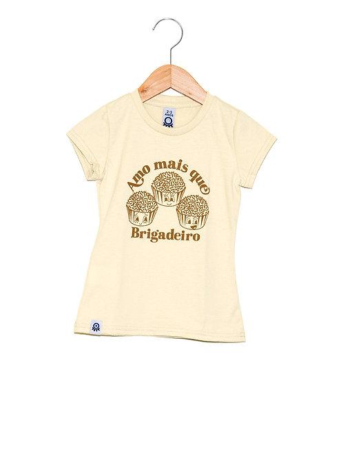 Camiseta Feminina Estampa LOK Brigadeiro