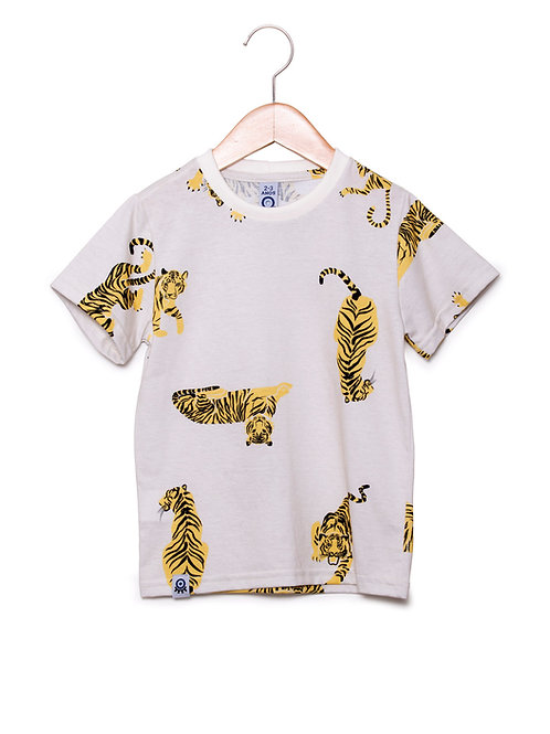 Camiseta Digital Estampa LoK TIGRE Off White Frente