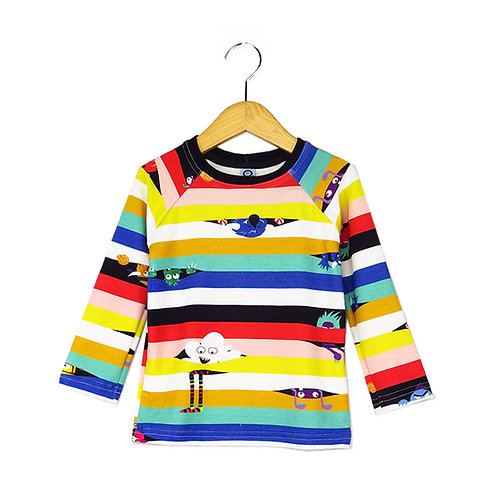 Camiseta Raglan Estampa I Spy Colorido