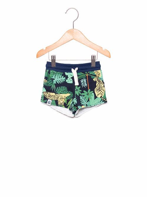 Shorts Moletom Infantil Estampa LoK SELVA Frente