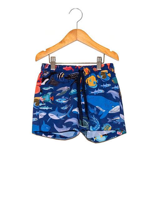 Shorts Praia Estampa LoK Ocean Frente