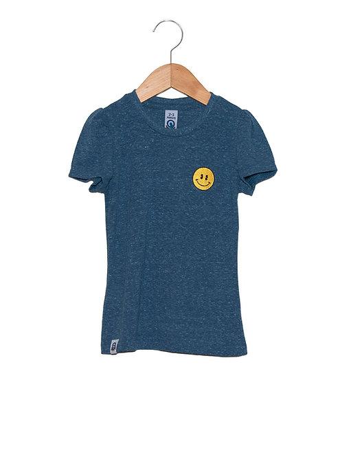 Camiseta Feminina Sorriso Bordado LOK Frente