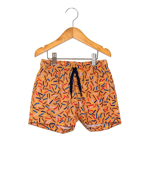 Shorts Praia Estampa LoK Brigadeiro