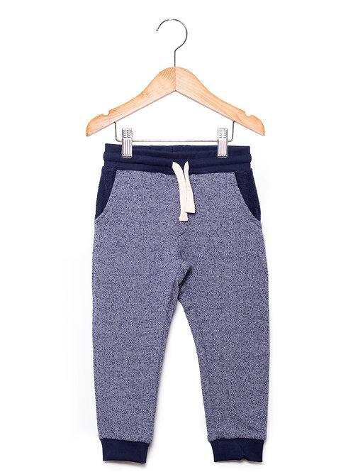 Calça Moletom Jeans Escuro LoK Frente