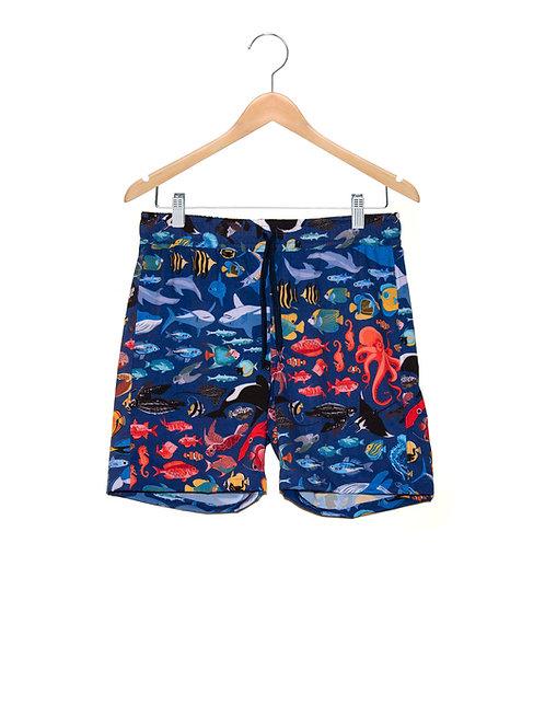 Shorts Praia Estampa LoK Oceano Gente Grande