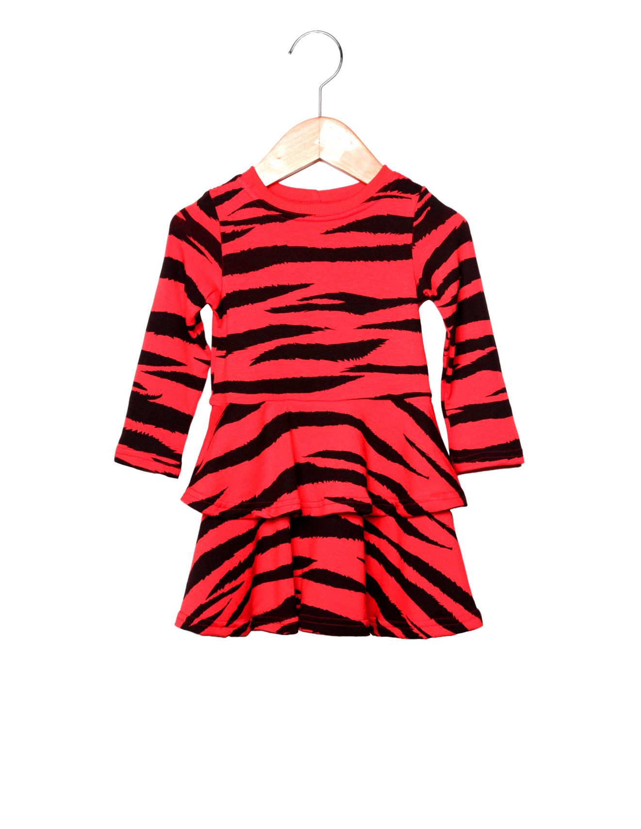 Vestido Rodado Estampa LoK Tigre