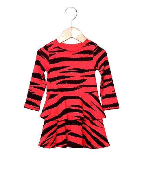 Vestido Rodado Estampa LoK Tigre Frente