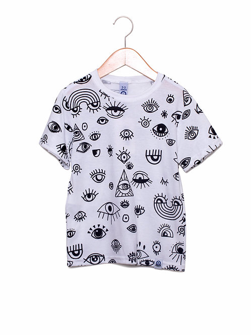 Camiseta Eco-Friendly Estampa LoK Olhos Frente