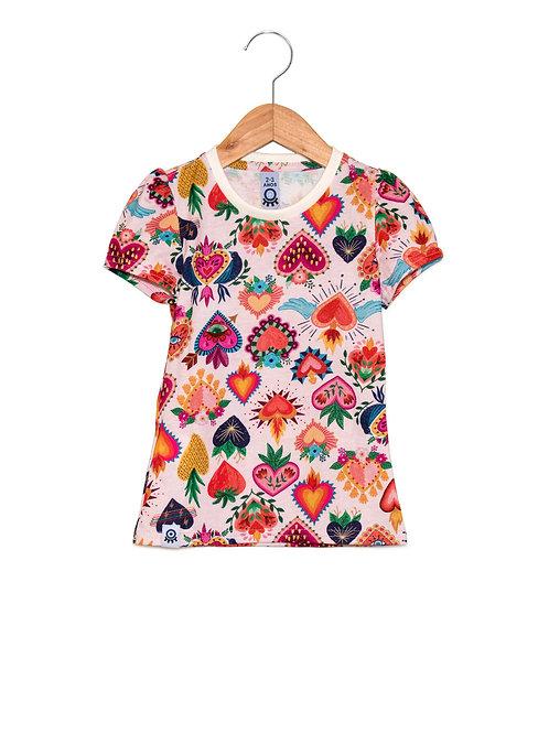 Camiseta Feminina Corações LoKPinK Frente