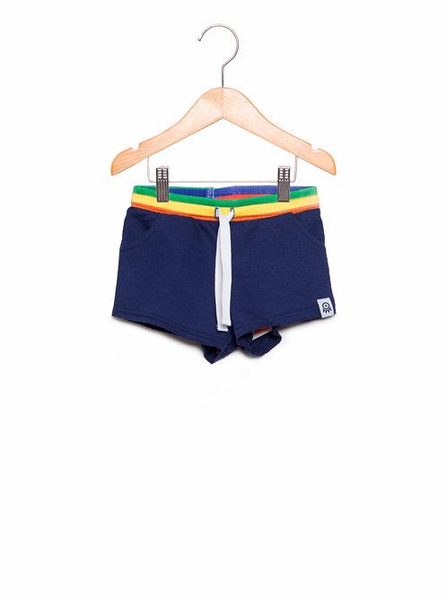 Shorts Marinho Arco Íris Basic LoK Frente