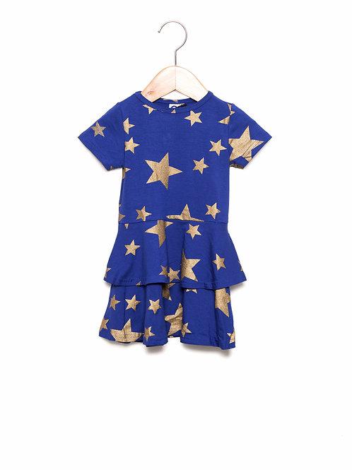Vestido Rodado Estampa LoK Estrelas Frente