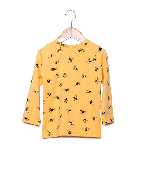 Pijama Estampa LoK Abelhas Camiseta Manga Longa