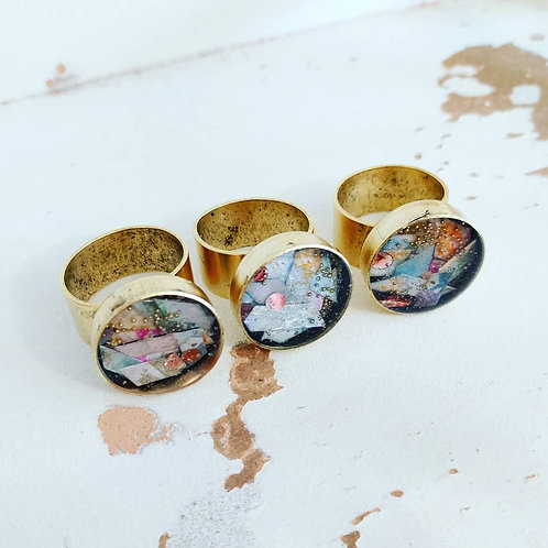 Adjustable Collage Ring - Kaleidescope collection