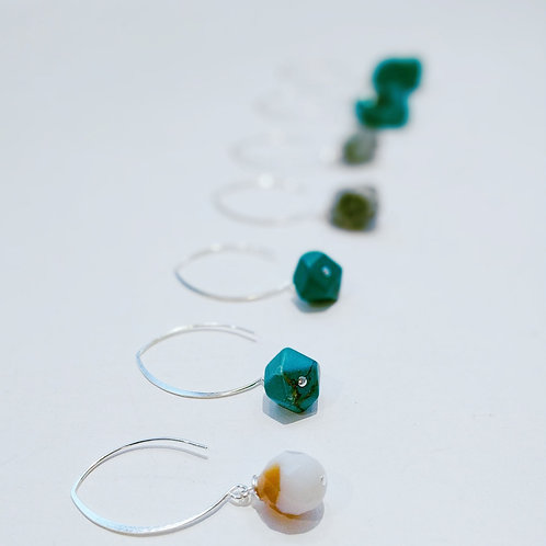 Faceted Turquoise Drop Earrings