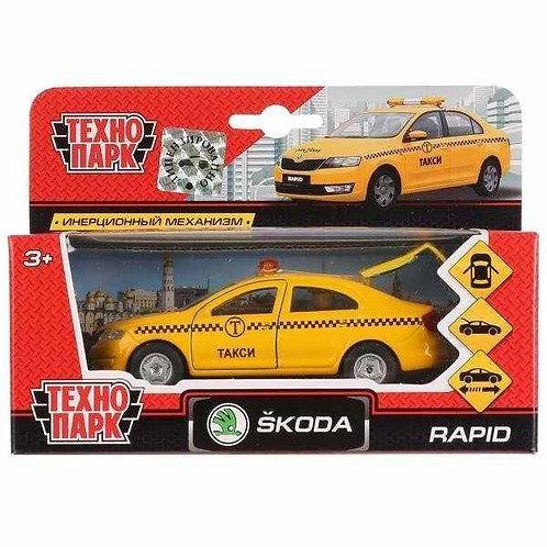 14-415-28 Машина металл SKODA Rapid такси 12см. открыв. двер