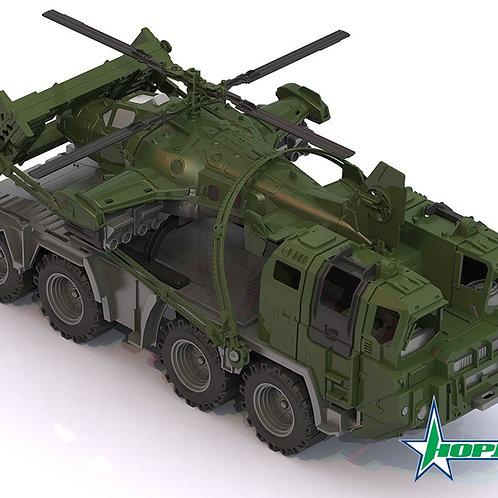 34-155-2 Военный тягач Щит с вертолетом (Н-П)