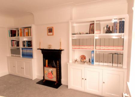 Victorian Style Alcove Cabinets.