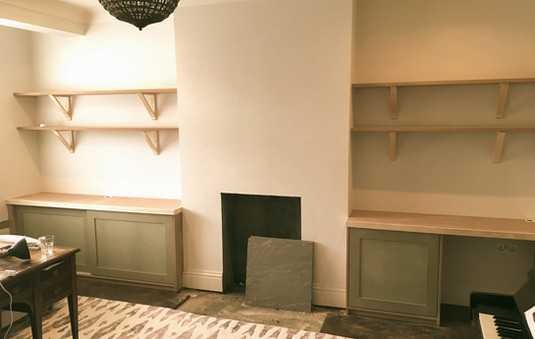 Shaker-style Alcove Cabinets