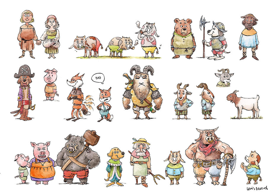 fantasy animal people medieval richard scarry