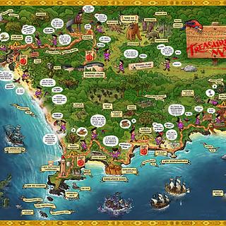 Kangaroo Island Wilderness Trail Treasure Map