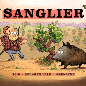 Sanglier wine labels (detail)
