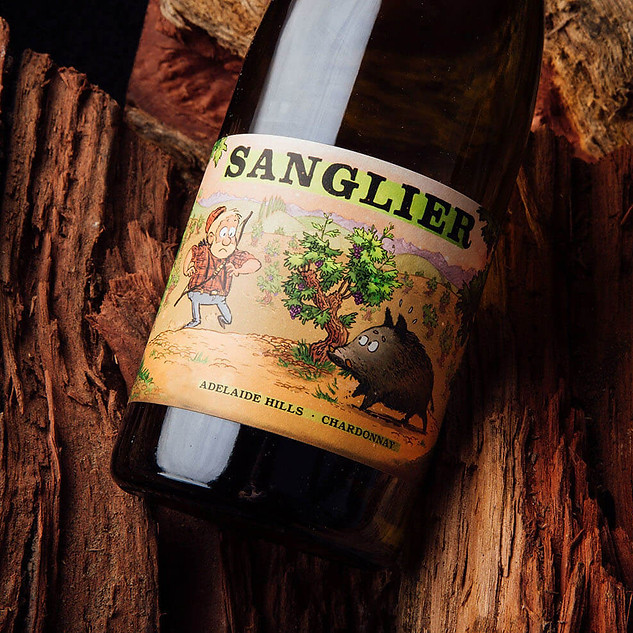 Sanglier wine labels