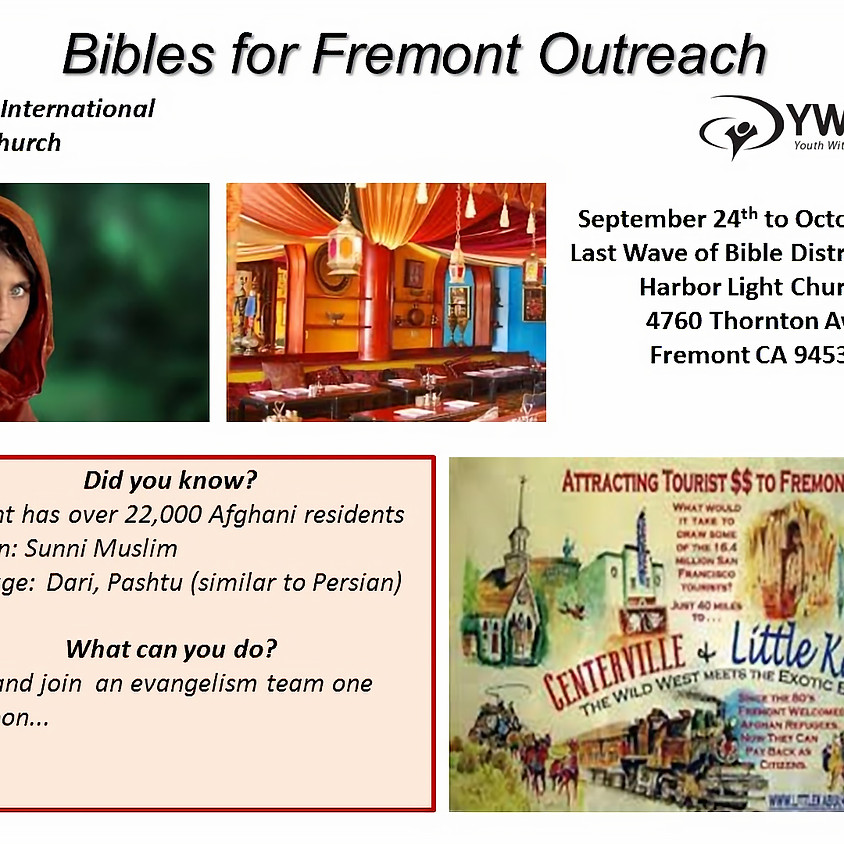 Bibles for Fremont Outreach