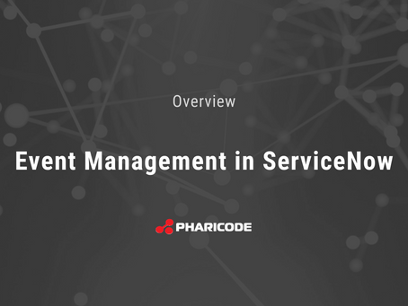 Share the Wealth: Event Management in ServiceNow
