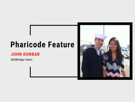 Pharicode Feature: John Dunbar, SkillBridge Intern